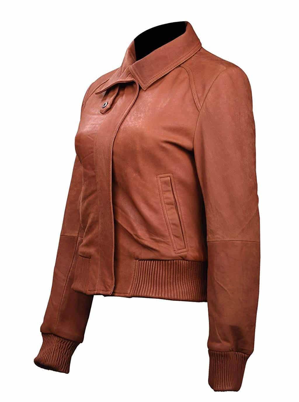Jaket Bomber Wanita dari Bahan Kulit Aneka Model Terbaru nan Keren