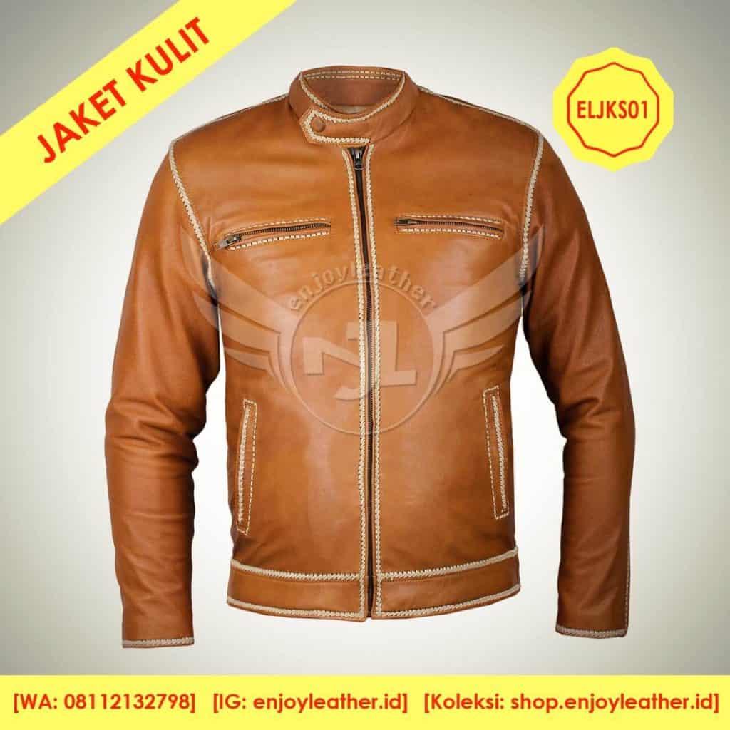 Jaket Kulit Sulam Model terbaru buatan grosir jaket kulit garut