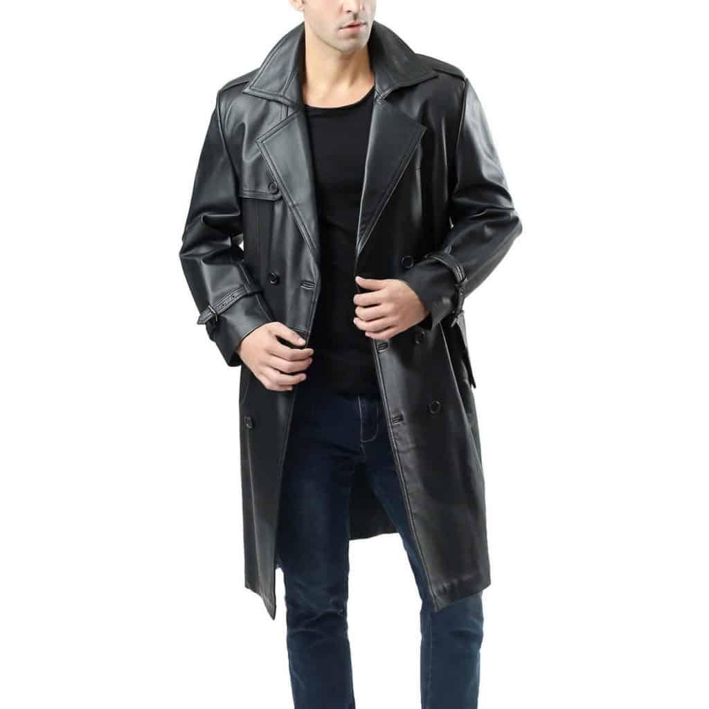 jaket kulit panjang selutut