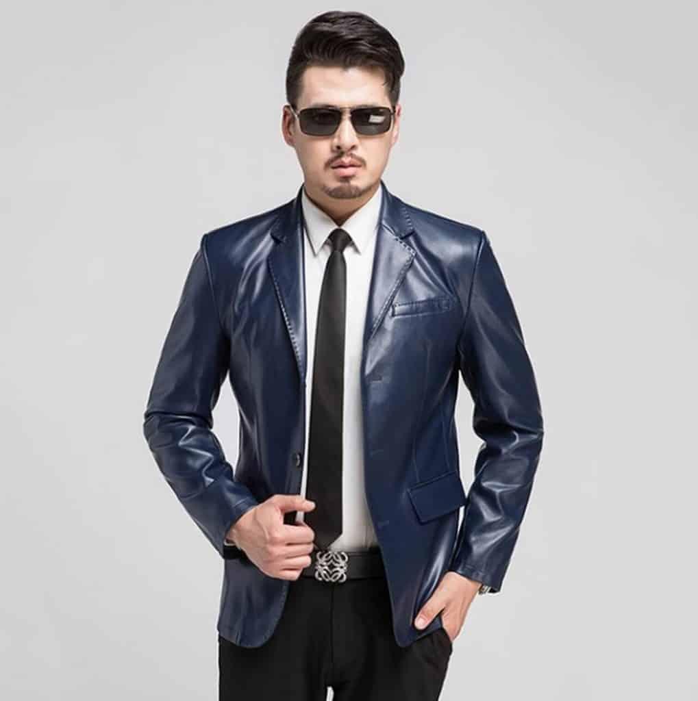 jaket kulit pria model jas