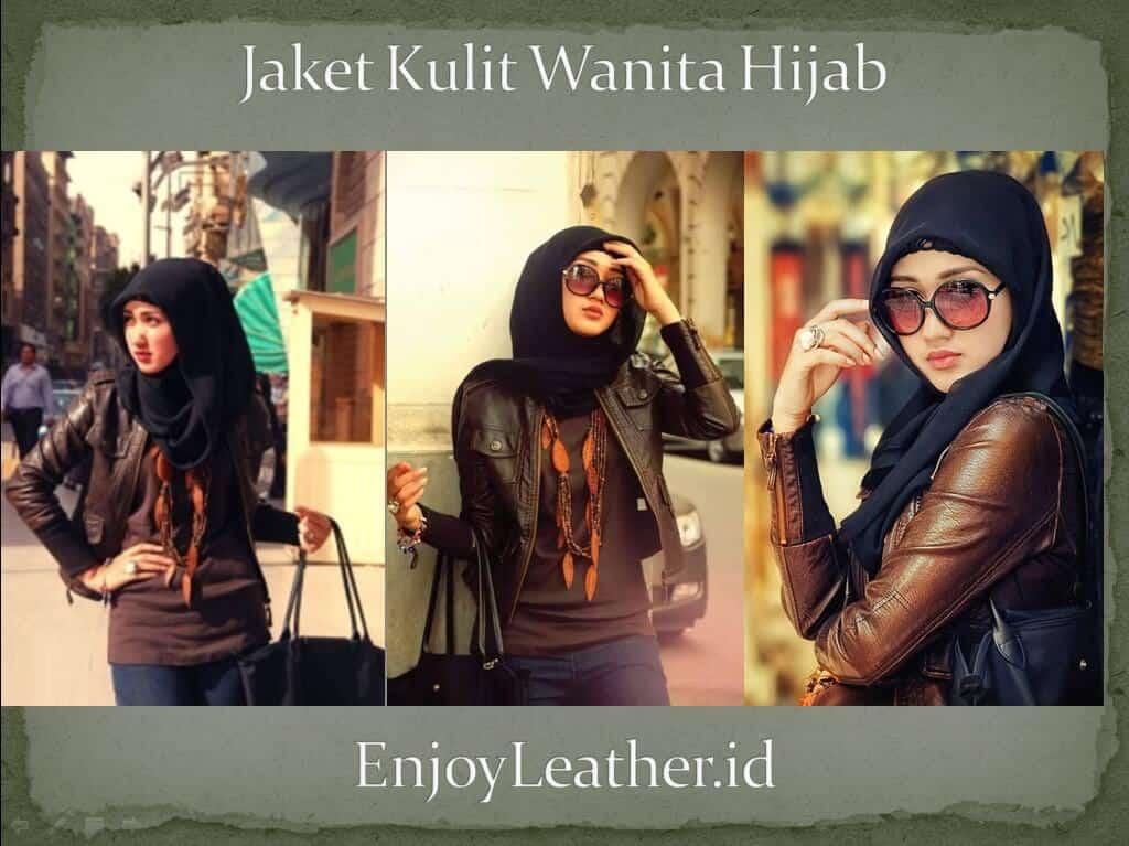 Jaket Kulit Wanita Terbaru 2019 Asli Garut Hijab Panjang Style Korea 7187cccbe7