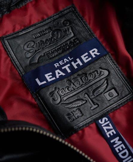 label ciri jaket kulit yang asli