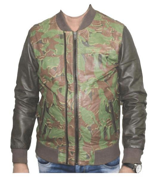 jaket kulit loreng untuk militer