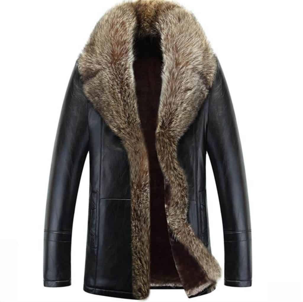 jaket kulit musim dingin atau winter