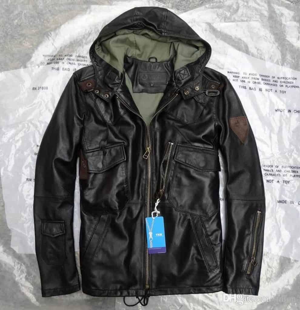 jaket kulit us army hoodie