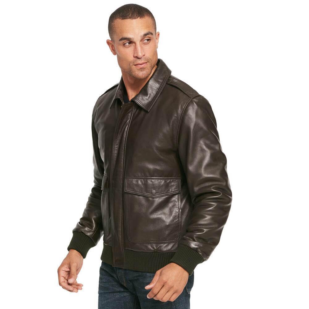 model jaket kulit pria berkerah terbaru