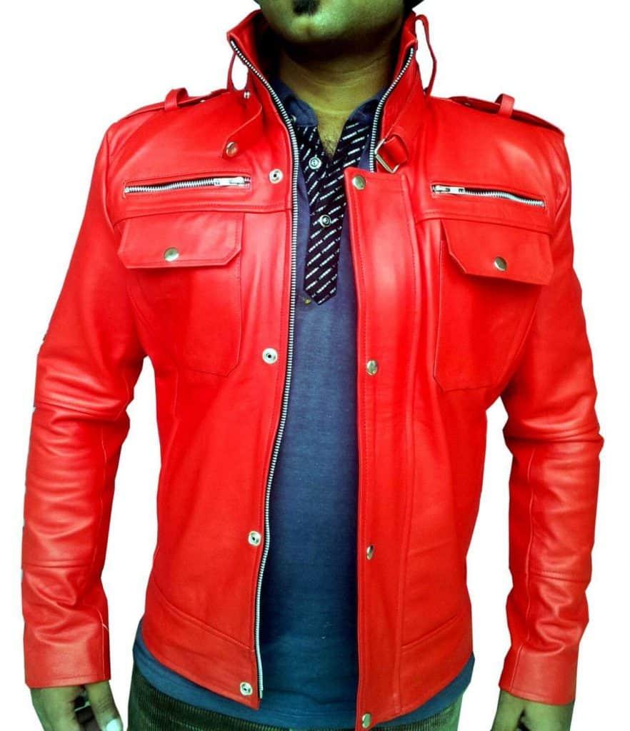 model jaket kulit pria gemuk