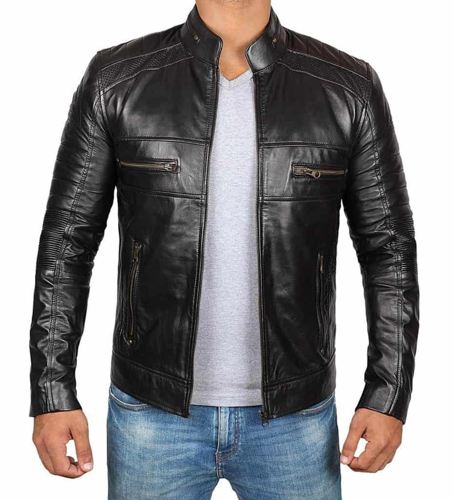 model jaket kulit cowok terbaru untuk biker pengendara motor