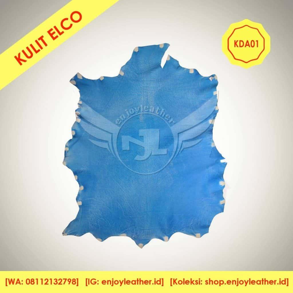 kulit domba antik biru elco KDA01