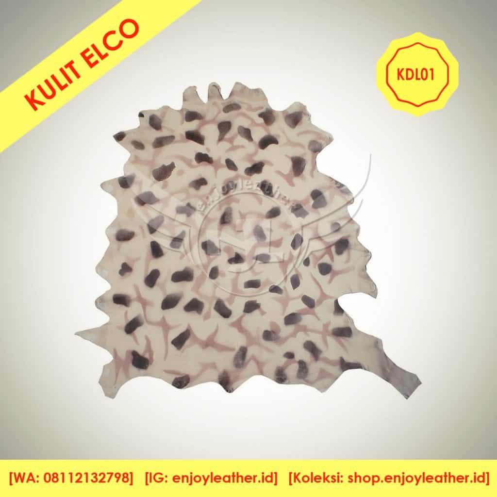 kulit domba garut loreng cream elco KDL01