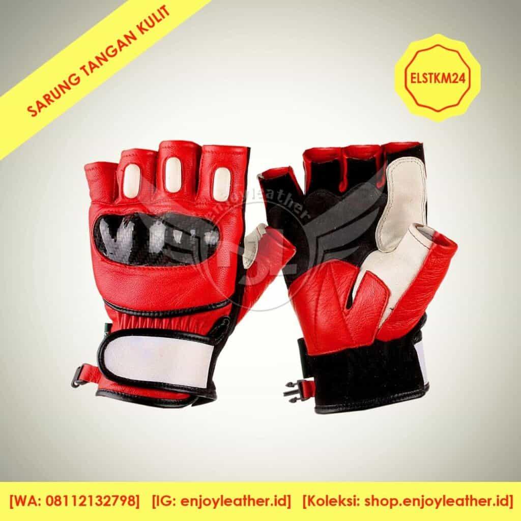 Model sarung tangan kulit setengah jari