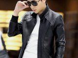 model jaket kulit pria korean style terbaru
